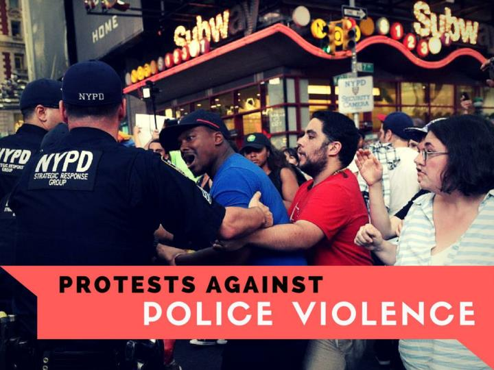 dissents against police violence n.