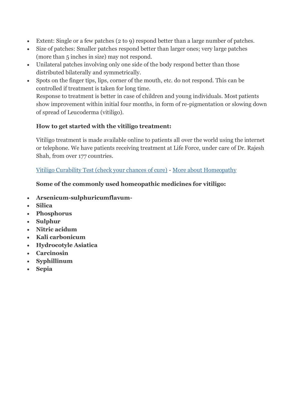 PPT - Homeopathic treatment for vitiligo PowerPoint