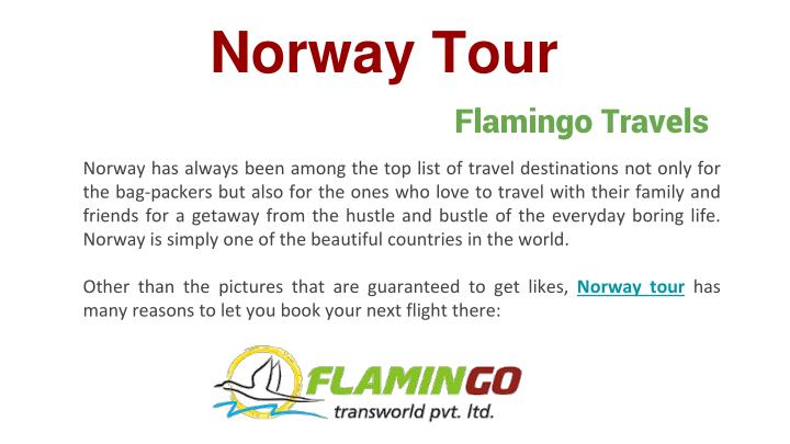 norway tour n.