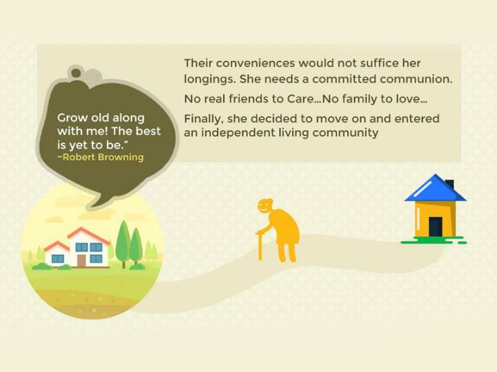 An infography on assisted living facilities and services