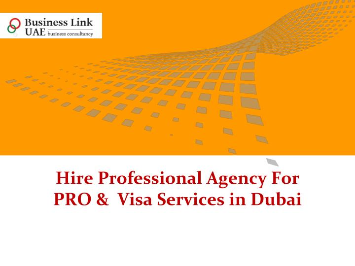 hire professional agency for pro visa services in dubai n.