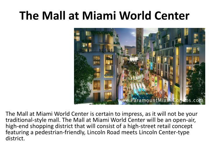 The mall at miami world center