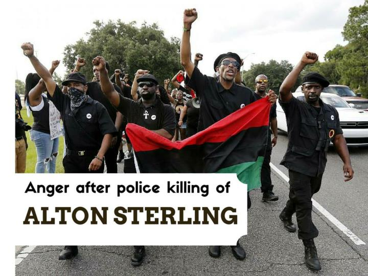 outrage after police executing of alton sterling n.