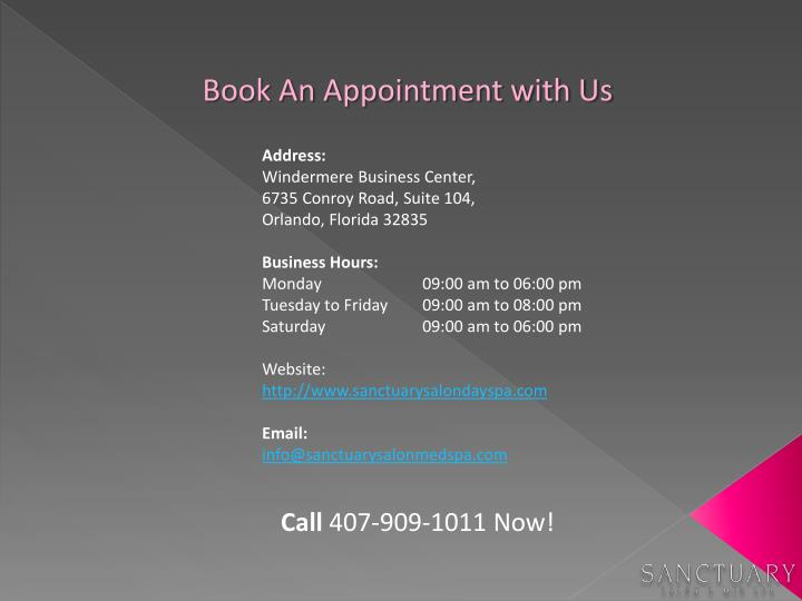 Book An Appointment with Us