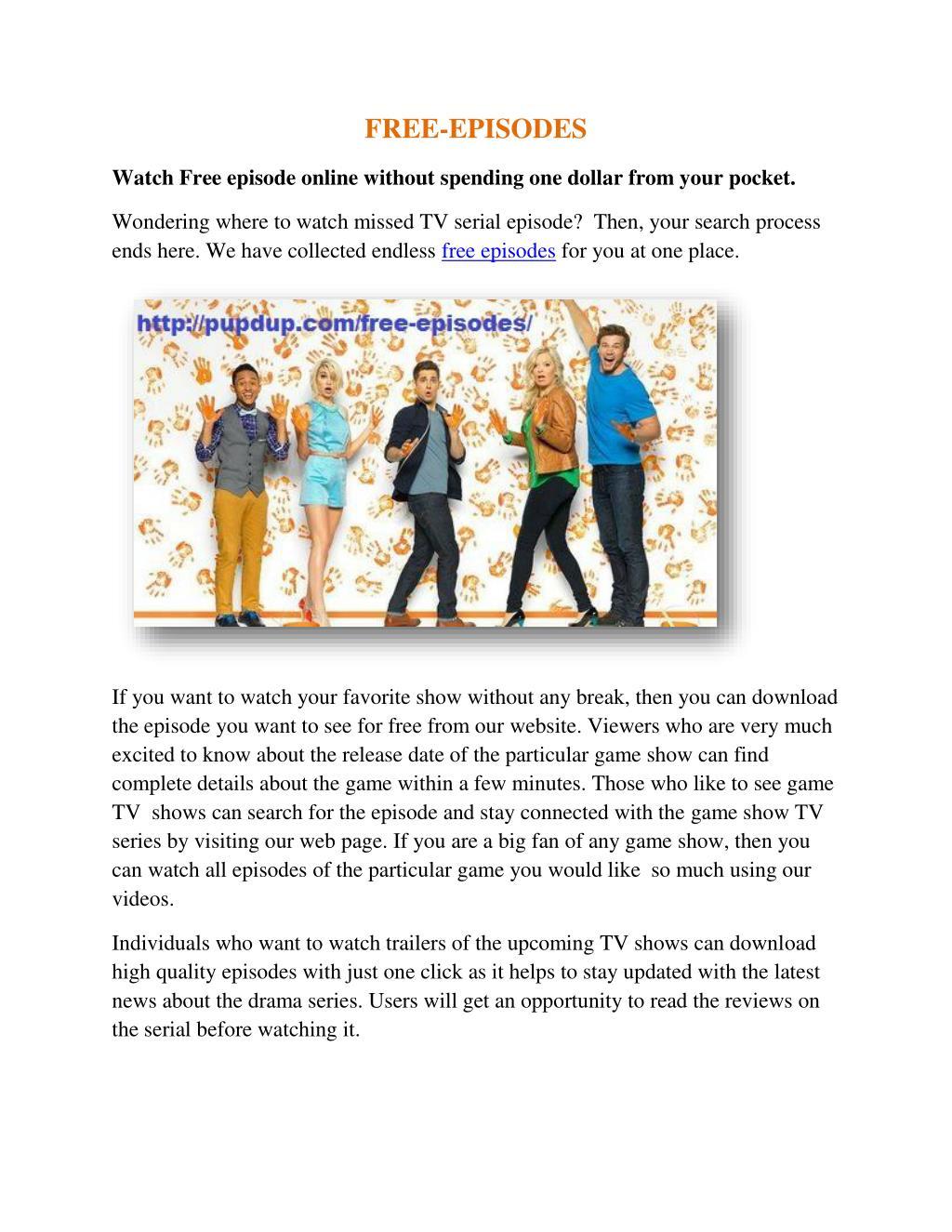 PPT - Watch free episodes PowerPoint Presentation - ID:7367178