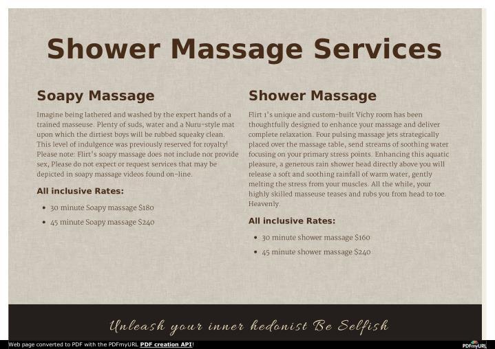 Shower Massage Services