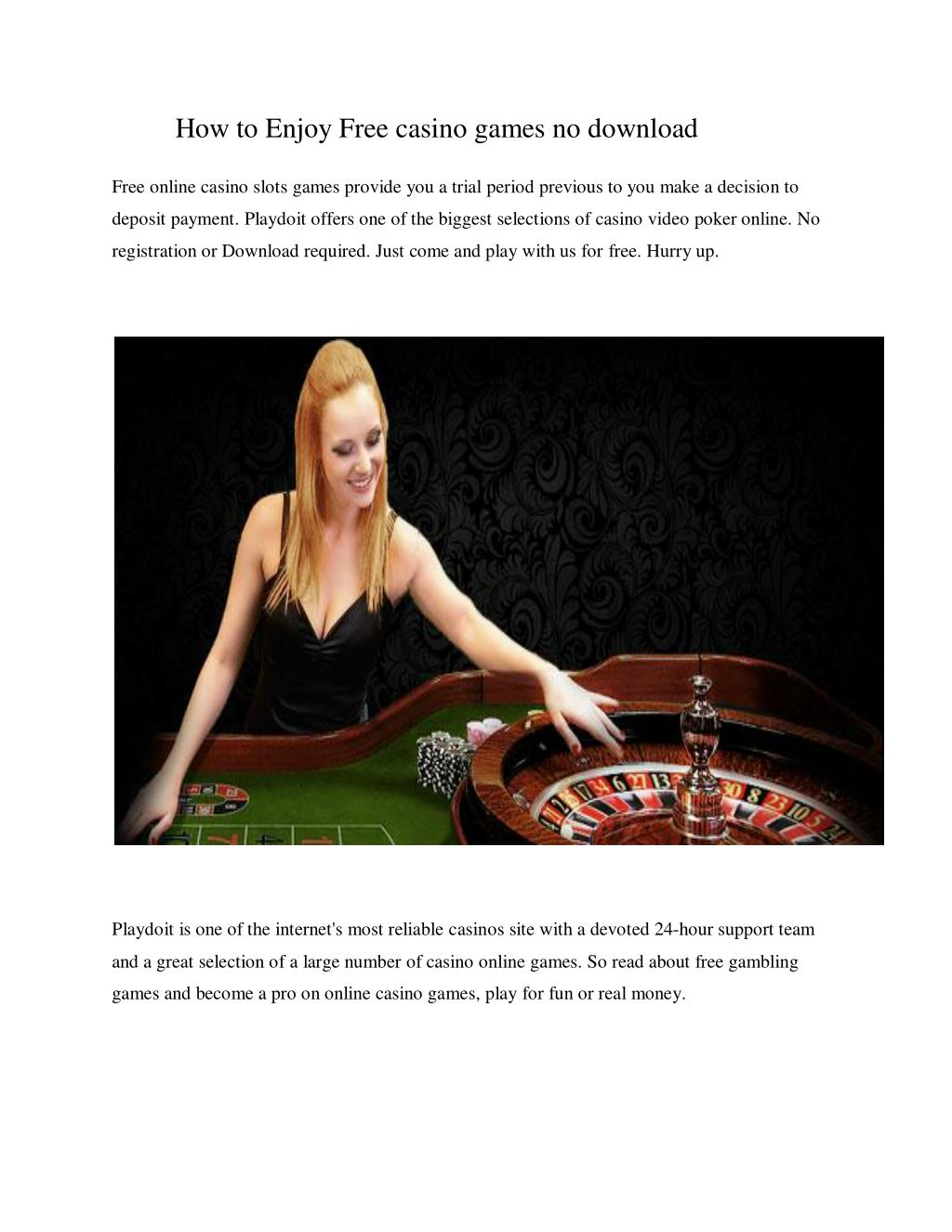 Ppt How To Enjoy Free Casino Games No Download Powerpoint