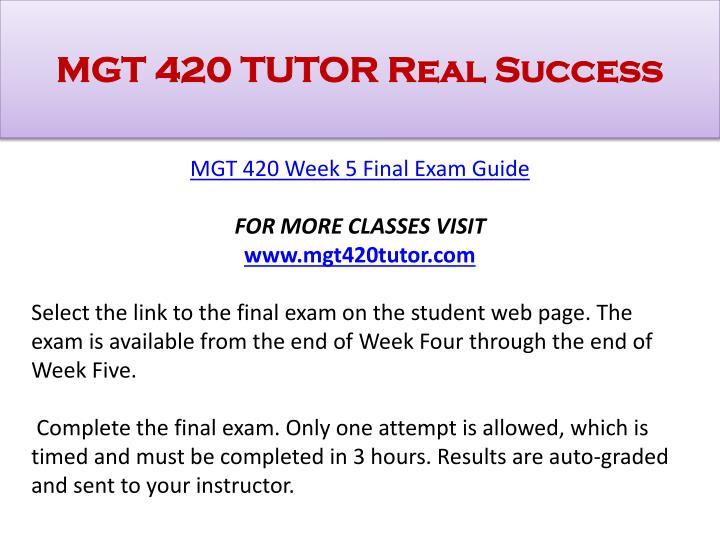 mgt 420 week 5 final exam