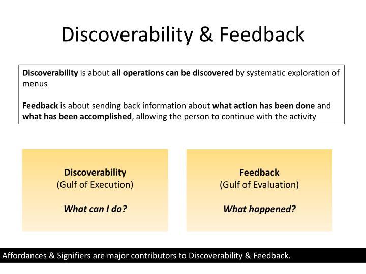 Discoverability & Feedback