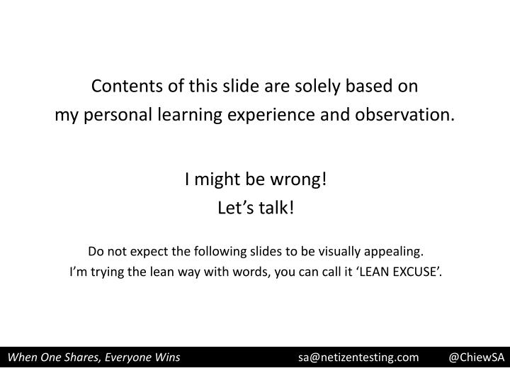 Contents of this slide are solely based on