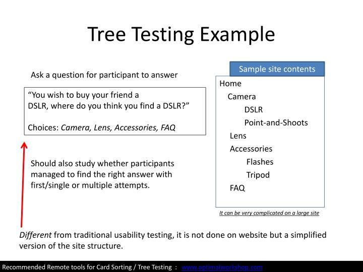 Tree Testing Example