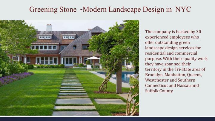 Greening stone modern landscape design in nyc