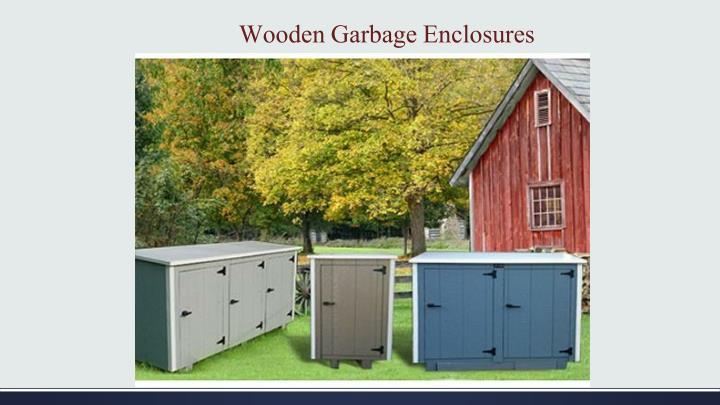 Wooden Garbage Enclosures