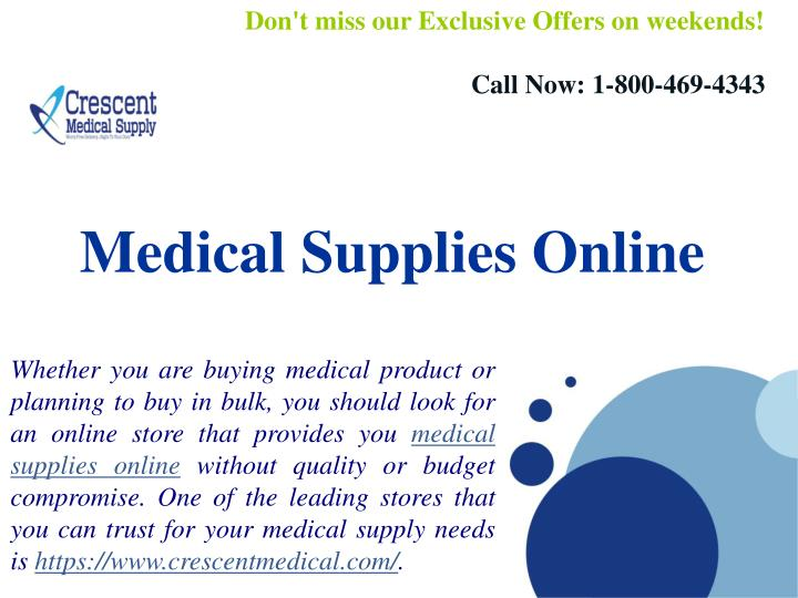 8561fe7d74c PPT - Medical Supplies Online And Medical Equipment PowerPoint ...