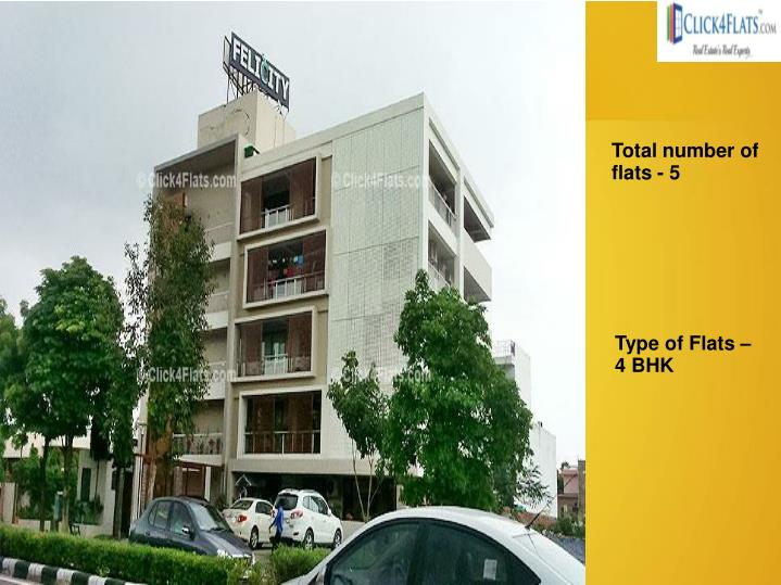 Total number of flats - 5