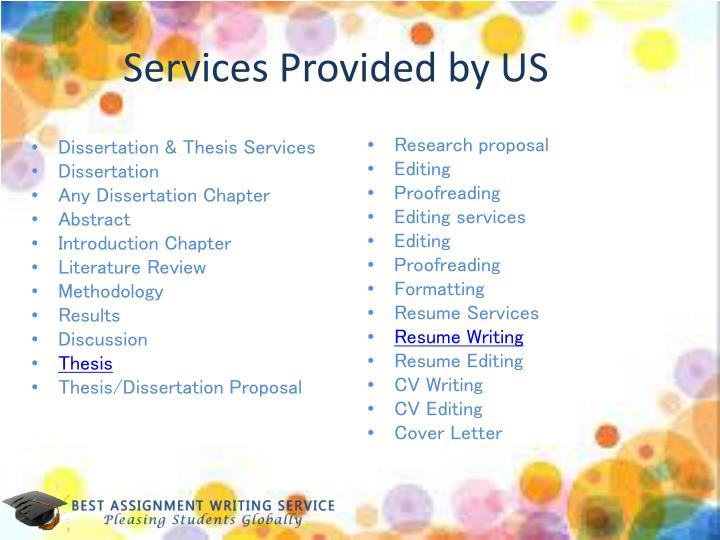Services Provided by US