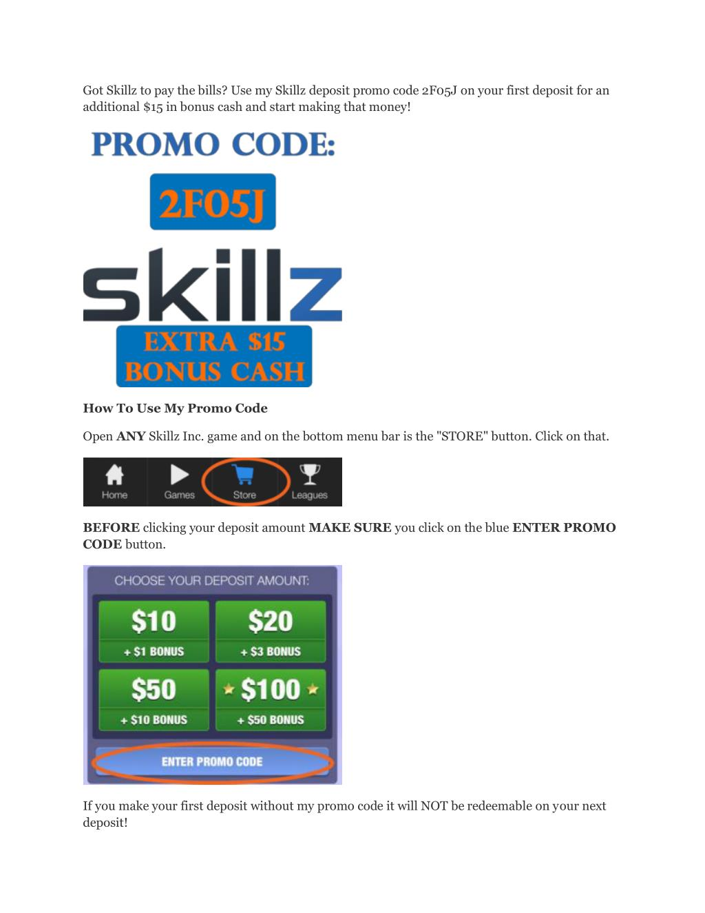 PPT - Skillz_Promo_Codez PowerPoint Presentation - ID:7368348