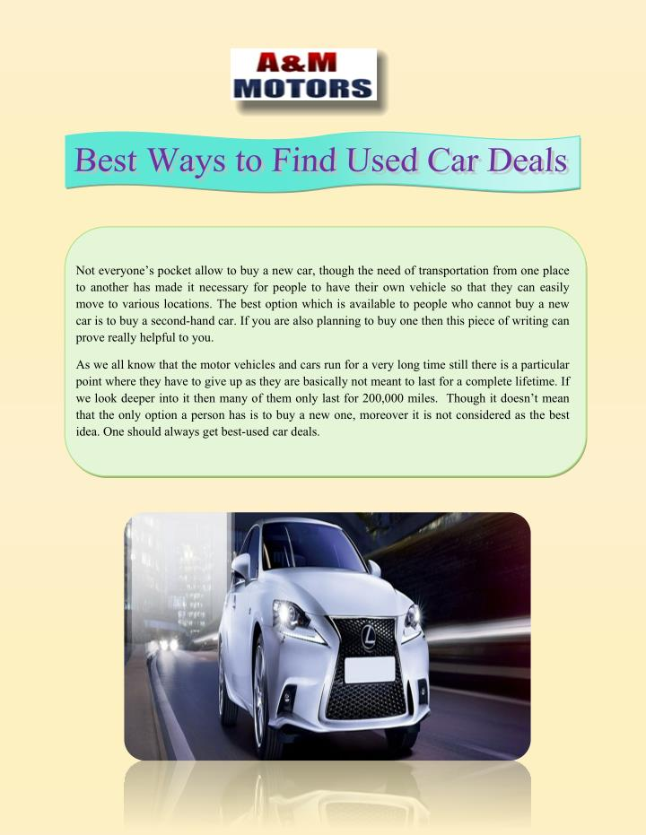 ppt best ways to find used car deals powerpoint presentation id 7368404. Black Bedroom Furniture Sets. Home Design Ideas
