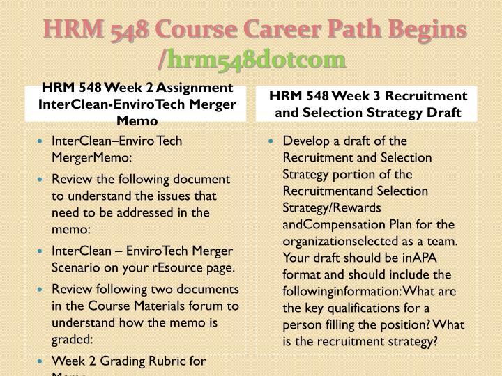 Hrm 548 course career path begins hrm548 dotcom2