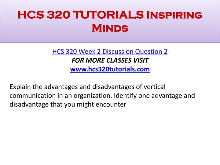 HCS 320 TUTORIALS Inspiring Minds