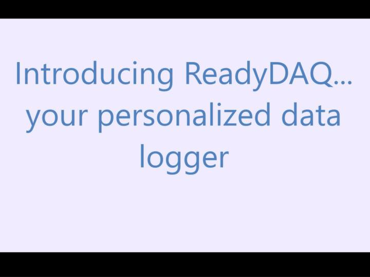 Daq labview data logger data acquisition system software readydaq