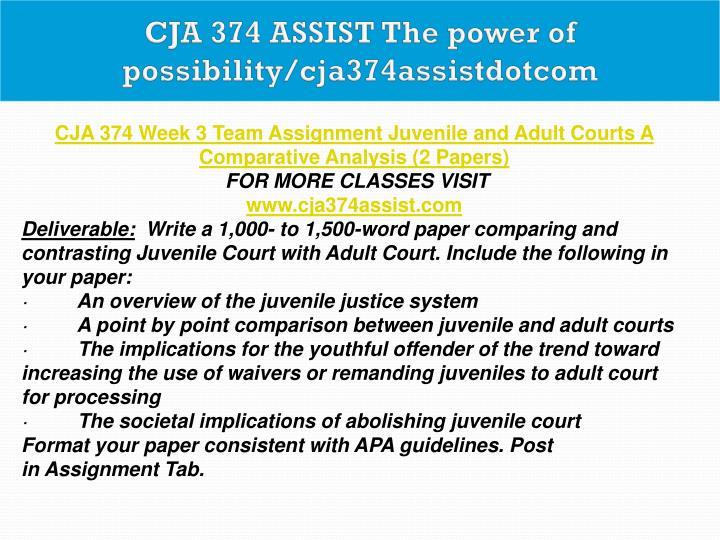 implications of abolishing juvenile court Cja 374 cja374 - free download as word doc (doc), pdf file (pdf), text file (txt) the societal implications of abolishing juvenile court.