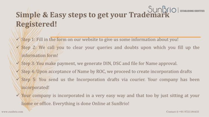 Simple easy steps to get your trademark registered