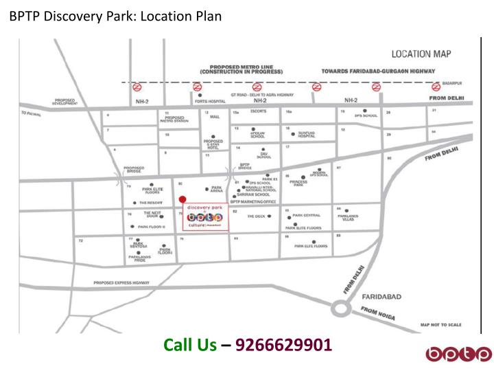 BPTP Discovery Park: Location Plan
