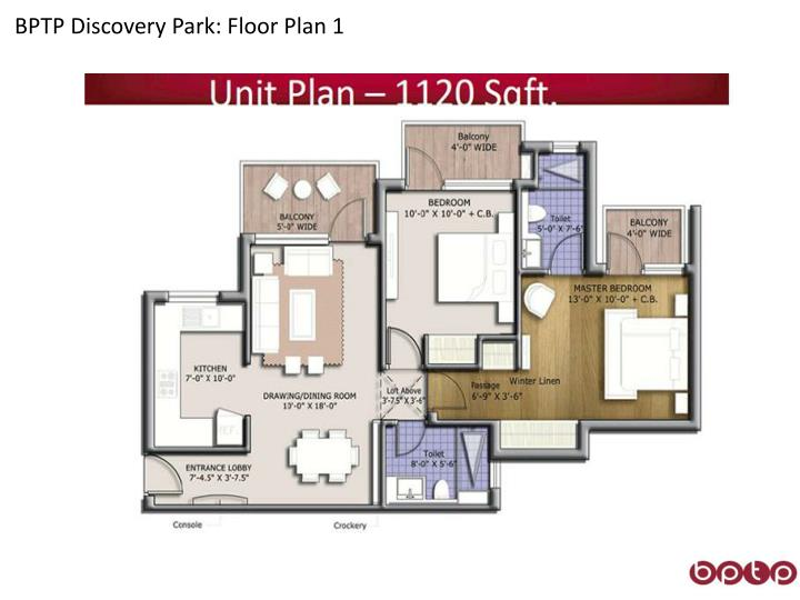 BPTP Discovery Park: Floor Plan 1