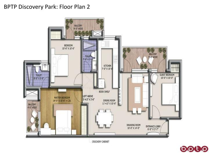 BPTP Discovery Park: Floor Plan 2