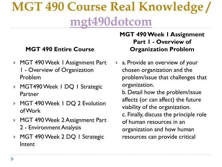 Mgt 490 course real knowledge mgt490dotcom1