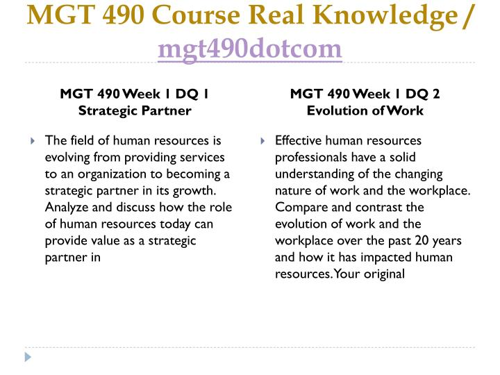 Mgt 490 course real knowledge mgt490dotcom2