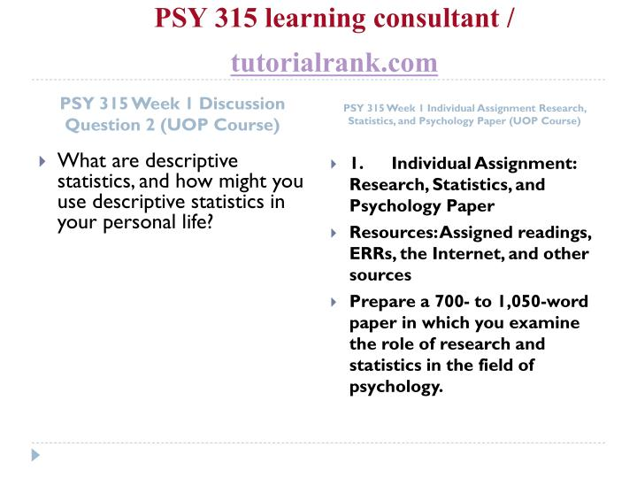 Psy 315 learning consultant tutorialrank com2