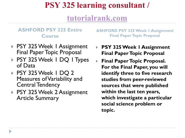 final psy 325