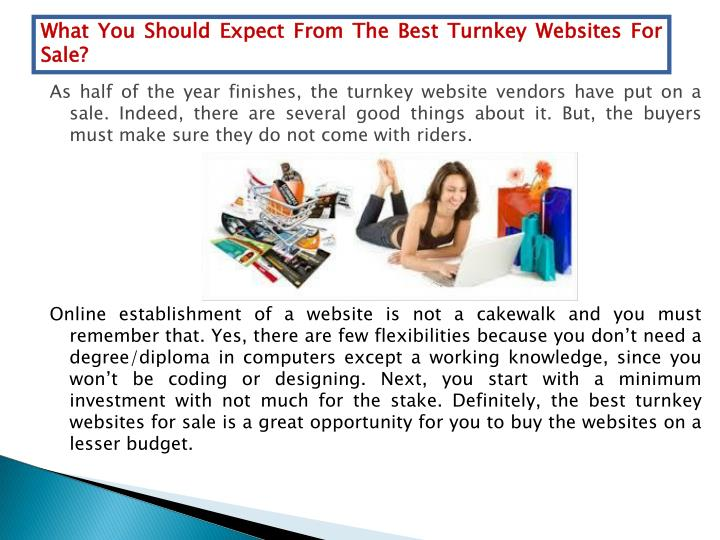 What You Should Expect From The Best Turnkey Websites For Sale?