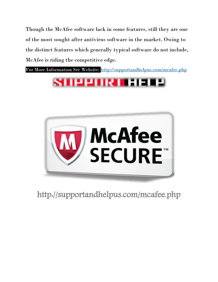 Though the McAfee software lack in some features, still they are one
