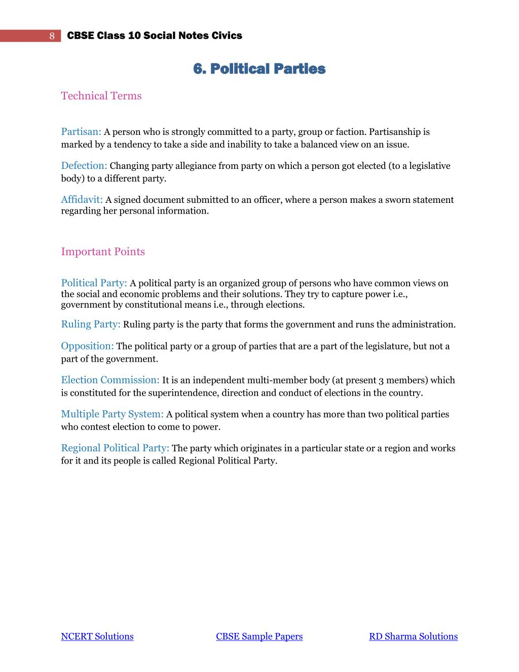 PPT - CBSE Class 10 Social Science Civics Notes PowerPoint