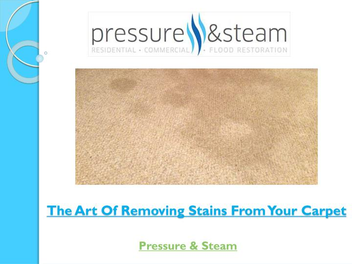 th e art of removing stains from your carpet n.