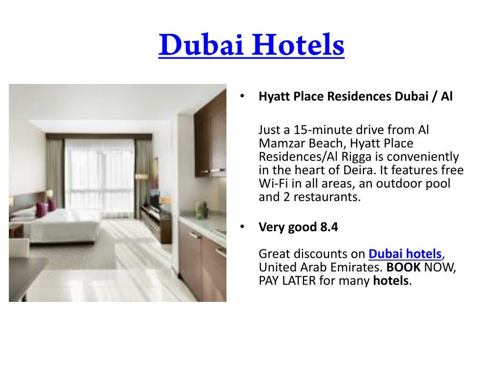 PPT - Dubai Hotels : Cheap, Budget Hotel Booking, 5 Star