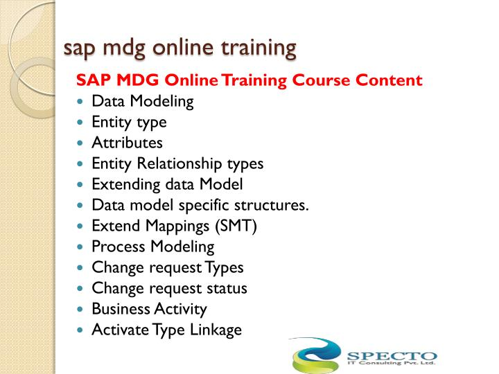 sap mdg online training