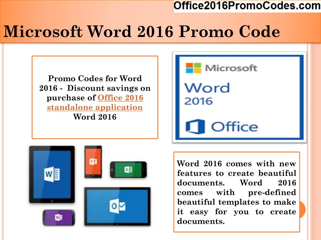 PPT - Office 2016 Promo Codes -Standalone PowerPoint