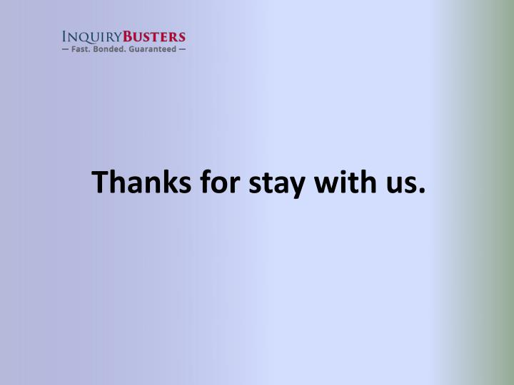 Thanks for stay with us.