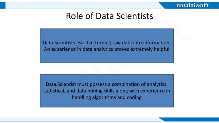 Role of data scientists
