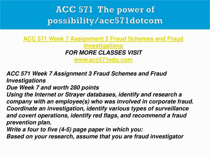 ACC 571  The power of possibility/acc571dotcom