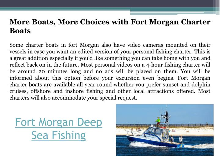 Ppt fort morgan deep sea fishing powerpoint presentation for Fort morgan fishing charters