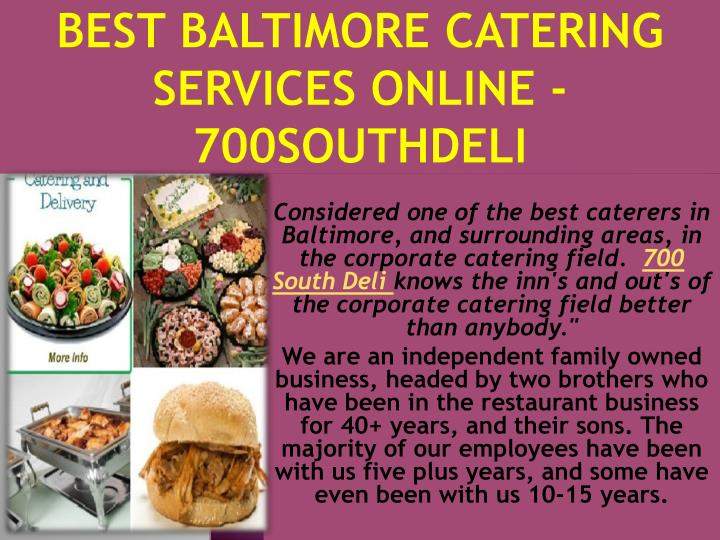 best baltimore catering services online 700southdeli n.
