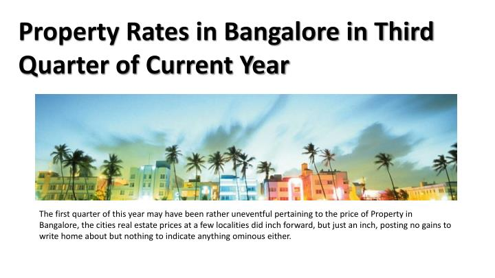 Property Rates in Bangalore