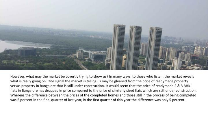 However, what may the market be covertly trying to show us? In many ways, to those who listen, the m...