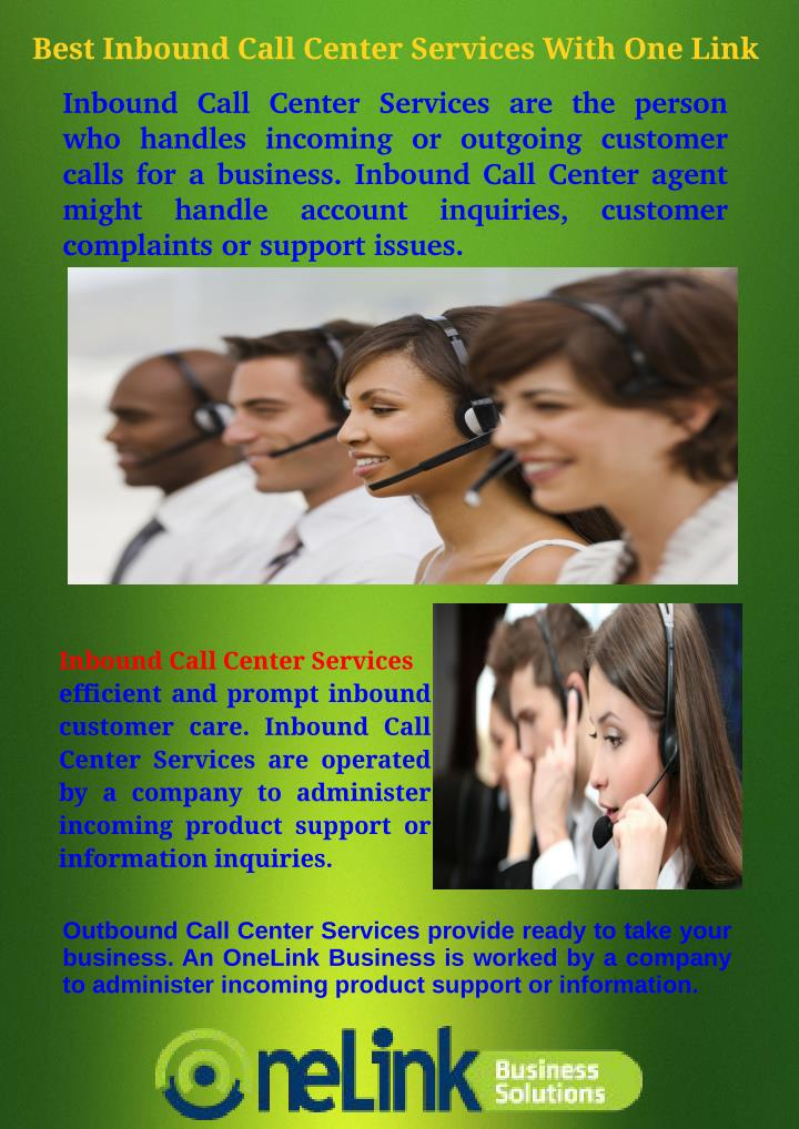 Best Inbound Call Center Services With One Link