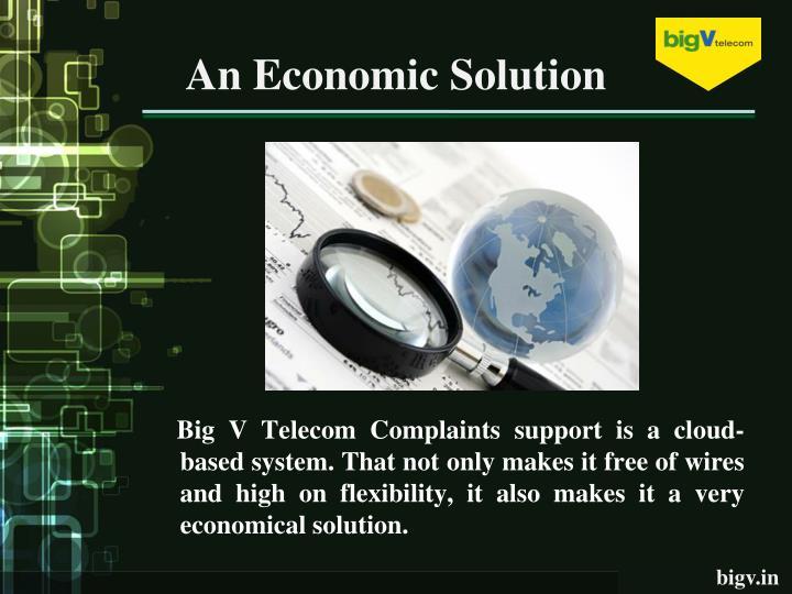 An Economic Solution